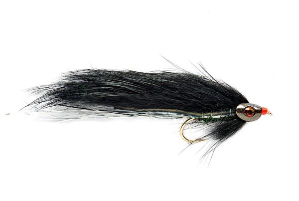 Fulling Mill Streamer - Black Zonker Skullhead