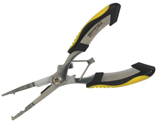 Spro Universal Zange mit Titan Schere und Sprengring Montage 16 cm