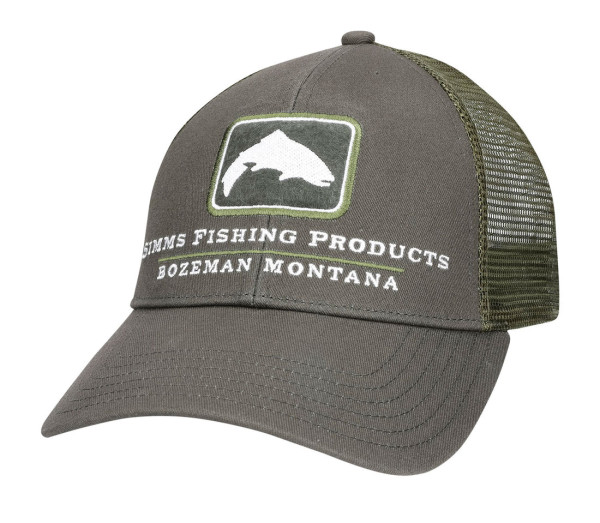 Simms Small Fit Trout Icon Trucker Cap Schirmmütze shadow green
