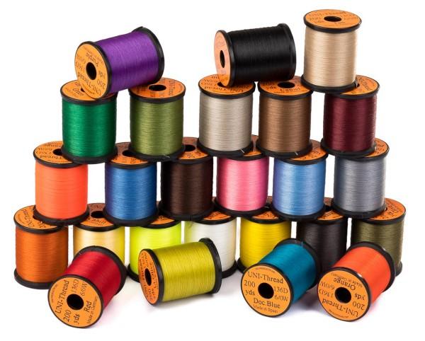 Uni Thread 6/0 waxed Bindegarn 200 yds