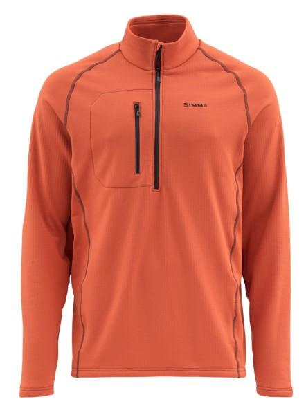 Simms Fleece Midlayer Top Pullover simms orange Simms Orange