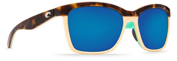 Costa Polarisationsbrille Anaa Shiny Retro Tort/Cream/Mint (Blue Mirror 580G)