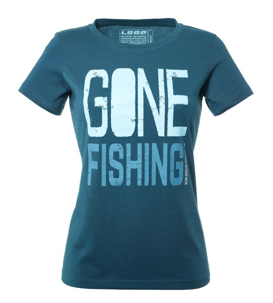 Loop Womens Gone Fishing T-Shirt dark slate