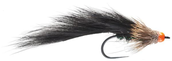 Soldarini Fly Tackle Streamer - Orange Bead Zonker Muddler black