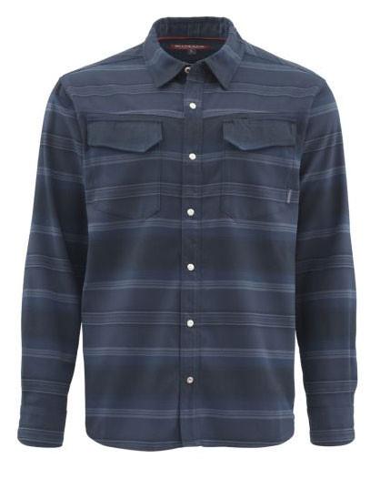 Simms Gallatin Flannel Shirt Langarmhemd admiral blue stripe