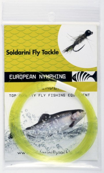 Soldarini Fly Tackle Euro Nymph Tapered Leader Nymphen-Vorfach 12 ft yellow