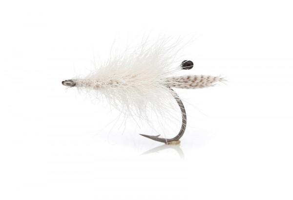 Meerforellenfliege Aurarejen Oposom weiß
