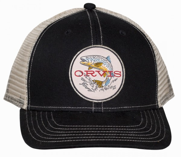 Orvis Early Rise Trout Trucker Cap black/white