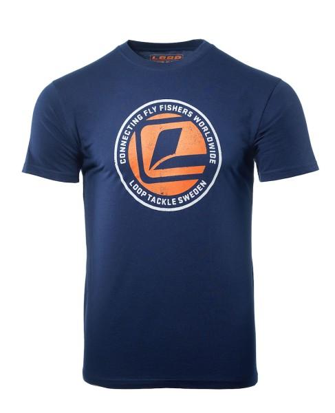 Loop Connecting L-Logo T-Shirt navy