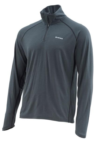 Simms Ultra-Wool Core 1/4 Zip Top Hemd raven