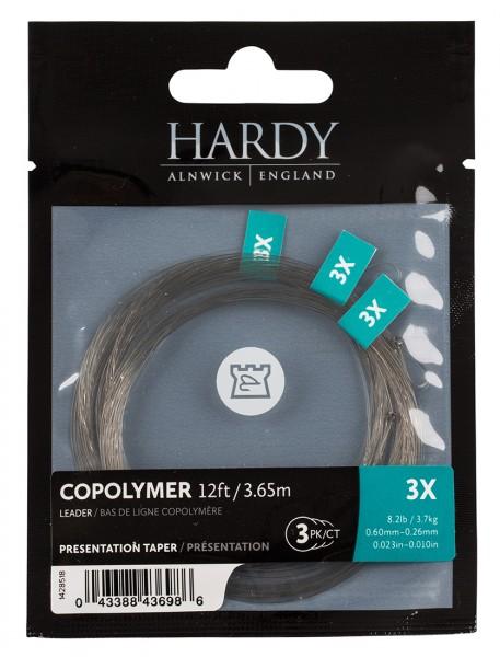 Hardy Copolymer Presentation Leader 12ft 3er Pack