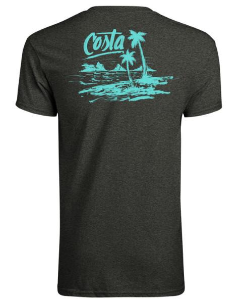 Costa Beachside T-Shirt dark heather aqua