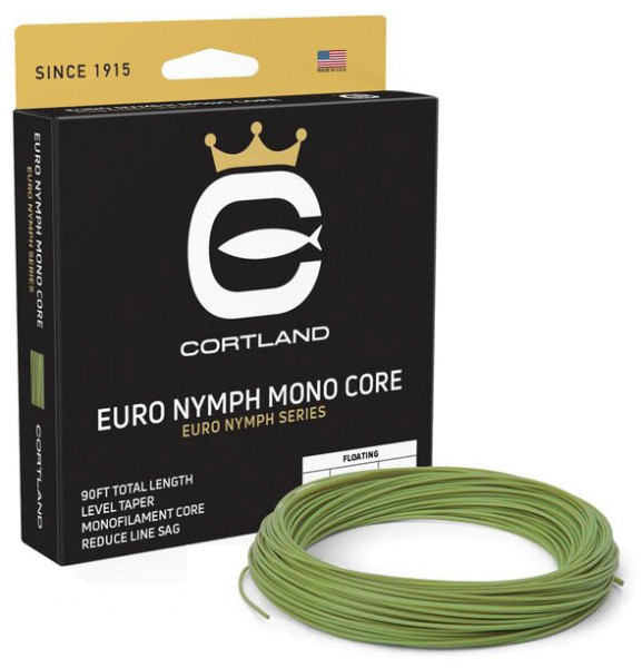 Cortland Euro Nymph Mono Core Level Fliegenschnur gecko green