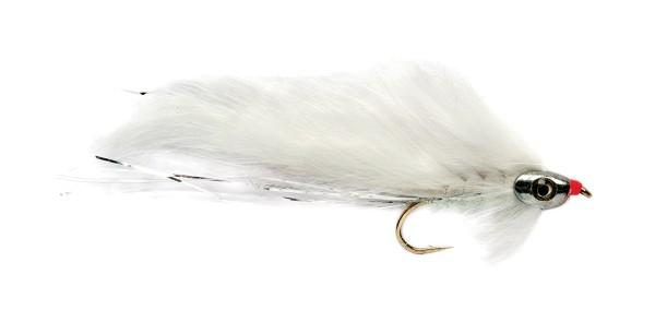Fulling Mill Streamer - White Zonker Skullhead