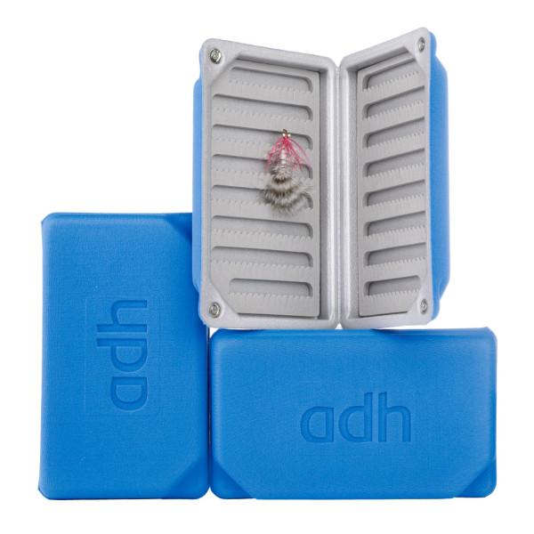 adh-fishing Foam Fly Box Fliegendose Large Ultralight blue