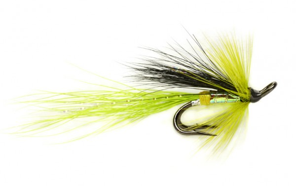 Fulling Mill Lachsfliege - Chartreuse Cascade Micro Double