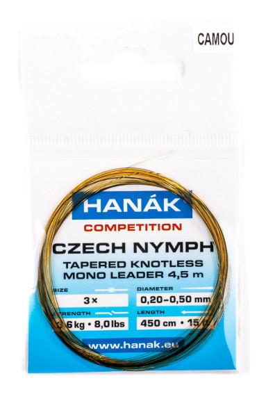 Hanak Czech Nymph Leader Nymphen Vorfach Camou 4,50m