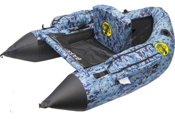 Seven Bass Design Hard Fabric Line SBD Bellyboat bleu camo