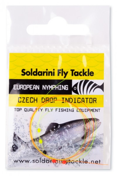 Soldarini Fly Tackle Czech 5 Drop Indicator Sichthilfe orange / yellow