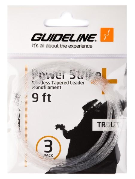 Guideline Power Strike Trout - Tapered Leader 9 und 12 ft 3er Pack