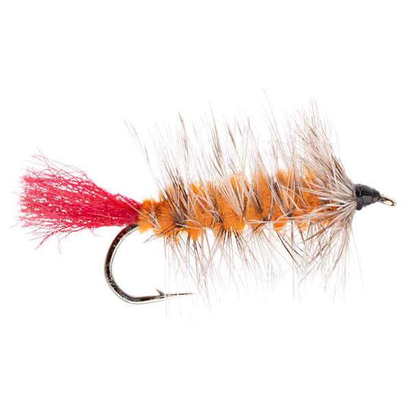 Kami Flies Streamer - Wolly Worm orange