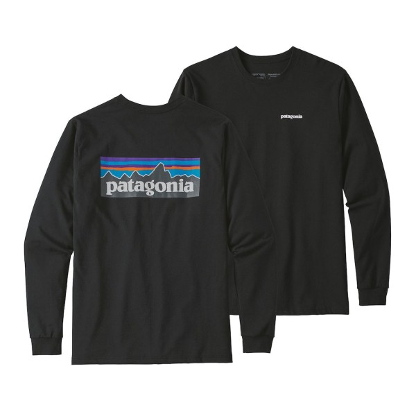 Patagonia P-6 Logo Responsibili-Tee Longsleeve Langarmhemd BLK Black (BLK)