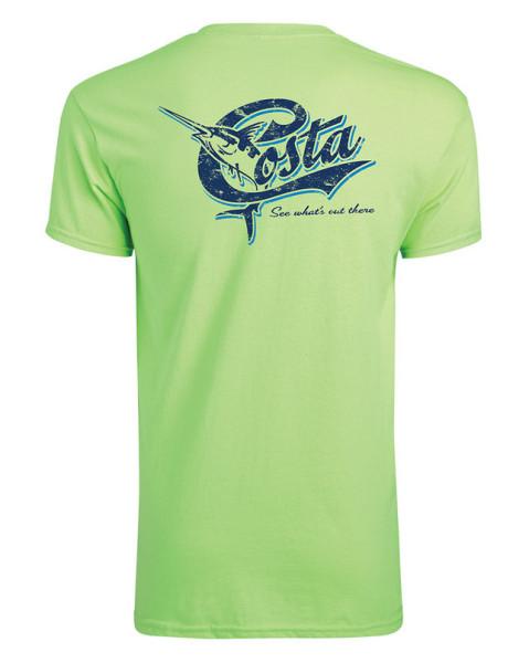 Costa Retro T-Shirt lime