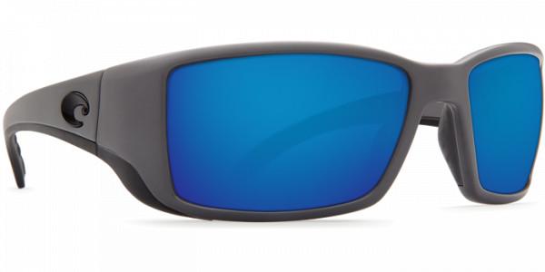Costa Polarisationsbrille Blackfin Matte Gray (Blue Mirror 580G)