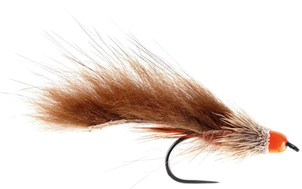 Soldarini Fly Tackle Streamer - Orange Cone Zonker brown