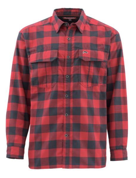 Simms Coldweather Shirt Langarmhemd red buffalo plaid red buffalo plaid