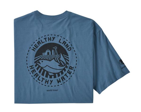 Patagonia Safeguard Stencil World Trout Organic T-Shirt PGBE