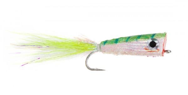Fulling Mill Streamer - Mylar Popper chartreuse/white