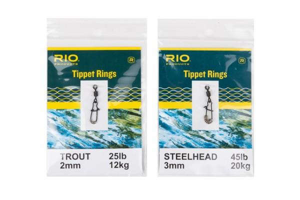 Rio Tippet Ringe mit Einfädelhilfe (Vorfachringe bzw. Pitzenbauerringe)