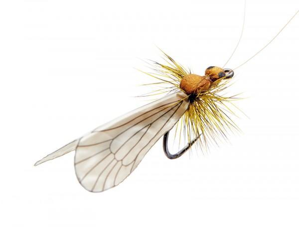J:son Realistic Flies - Caddis Adult cinnamon brown