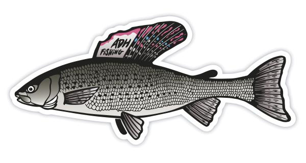 adh-fishing Grayling Sticker Äsche