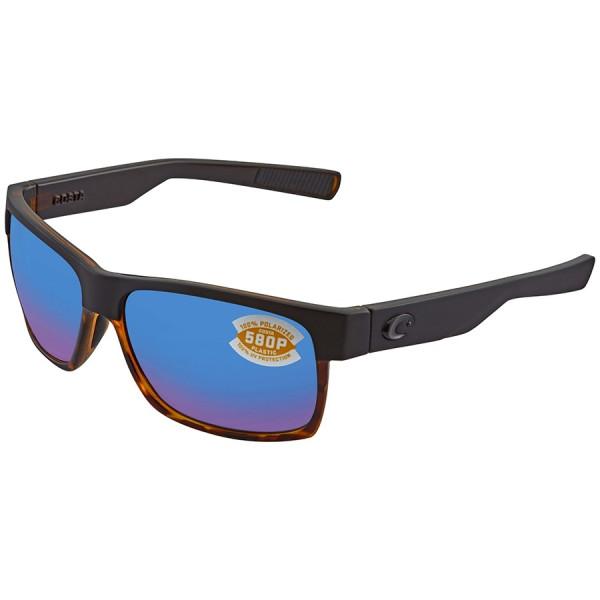 Costa Polarisationsbrille Half Moon - Matte Black/Shiny Tortoise (Blue Mirror 580P)