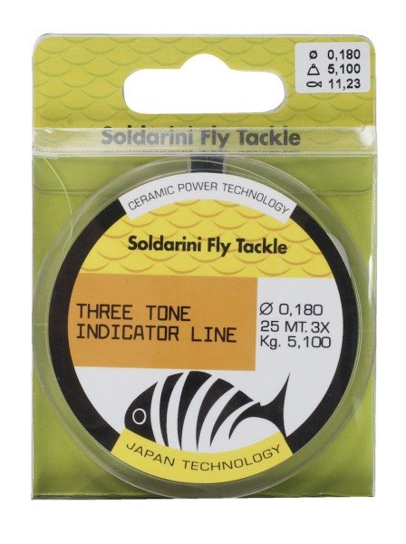 Soldarini Fly Tackle Tricolor Indicator Line Sichthilfe orange/black/yellow