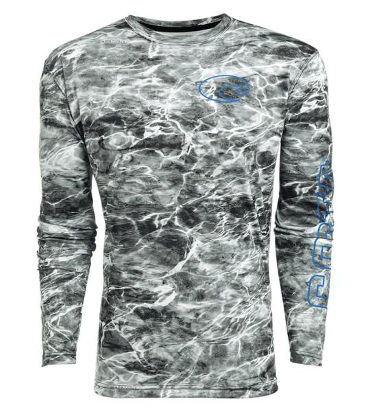 Costa Tech Crew Shirt Mossy Oak Elements camo gray