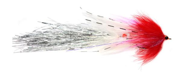 Fulling Mill Streamer - Articulated Whistler red & white