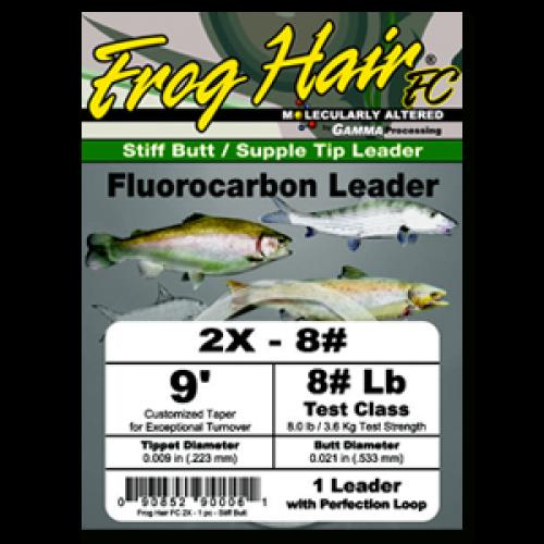 Frog Hair Fluorocarbon Tapered Leader Vorfach