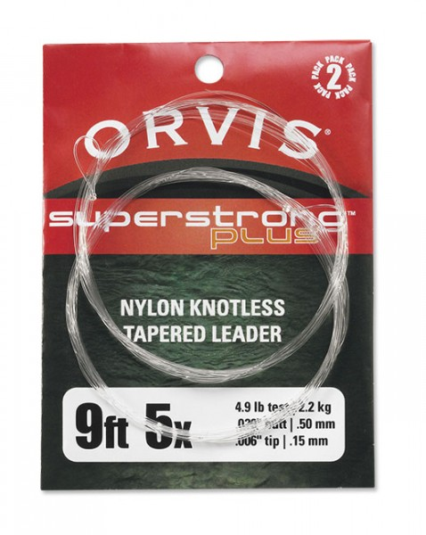 Orvis Super Strong Plus Leader 2er Pack 9 ft.