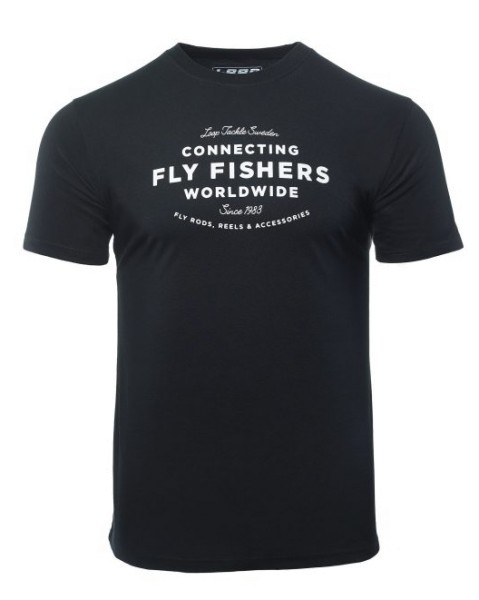 Loop Connecting Fly Fishers Worldwide T-Shirt black