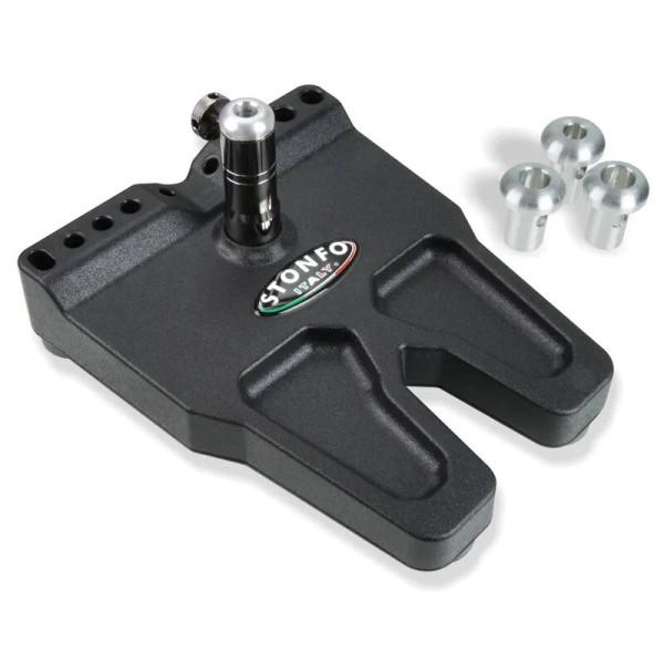 Stonfo 657 Bodenplatte für Bindestöcke extra groß mit Werkzeughalter universal passend