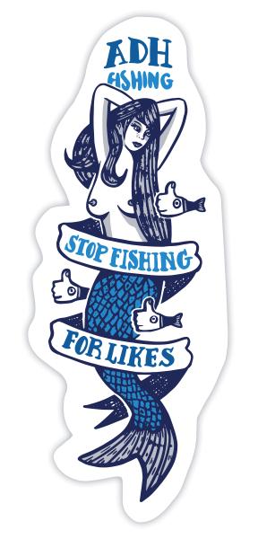 adh-fishing Mermaid Sticker Meerjungfrau