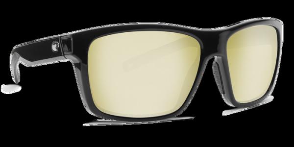 Costa Polarisationsbrille Slack Tide Shiny Black (Sunrise Silver Mirror 580G)