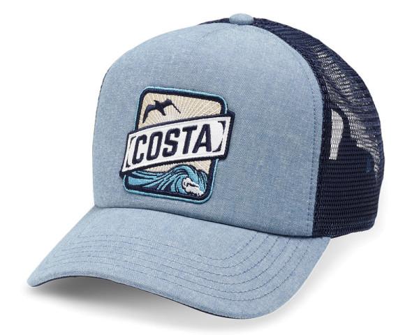 Costa Chambray Foam Front Trucker Hat blue