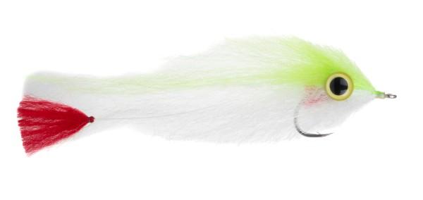 Enrico Puglisi Salzwasserfliege - Big Eyes Red Tail chartreuse/white
