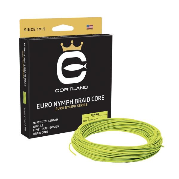 Cortland Hi-Vis Euro Nymph Braid Core Level Fliegenschnur