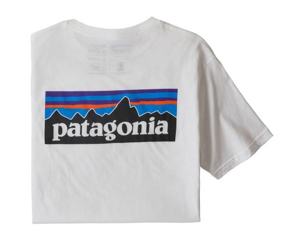 Patagonia P-6 Logo Organic Cotton T-Shirt WHI