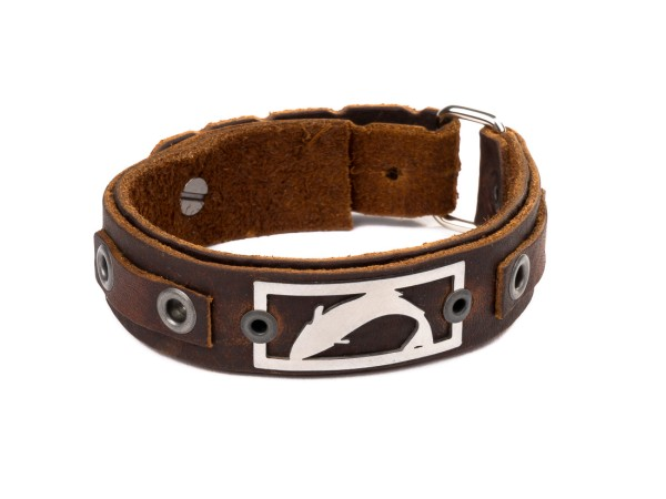 Sight Line Provisions Freshwater Collection - Trout Leather Cuff Lederarmband brown Trout (Rustic Brown)